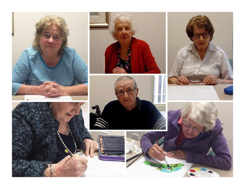 Residents of RSL Care SA Answer Questions about their Early Life through Art